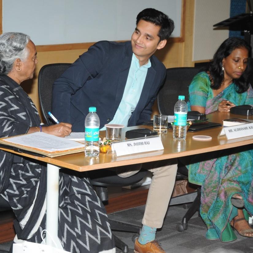 Left to Right: Ms. Jyothi Raj, Mr. Sudhanshu Kaushik, Ms. Tara Krishnaswamy